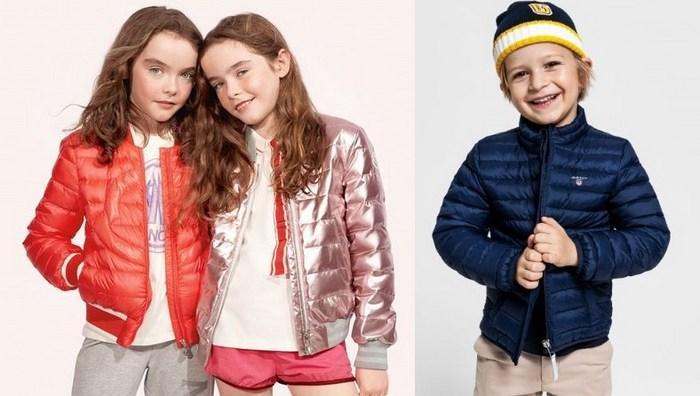 Стеганые куртки для детей производят в ярких расцветках фото