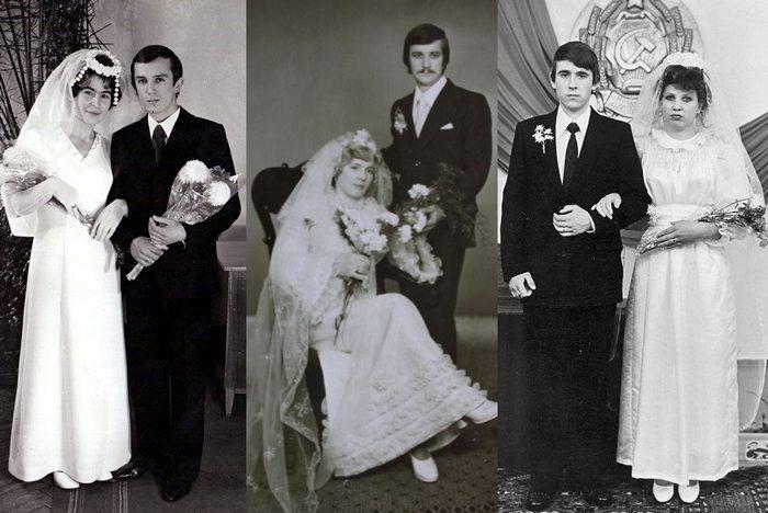 Свадебные платья в 70-х в СССР, фото