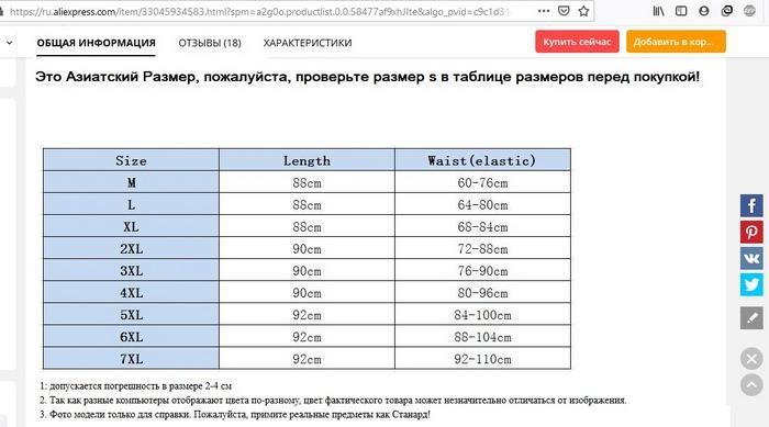 Таблица размеров юбок для женщин на алиэкспресс, фото