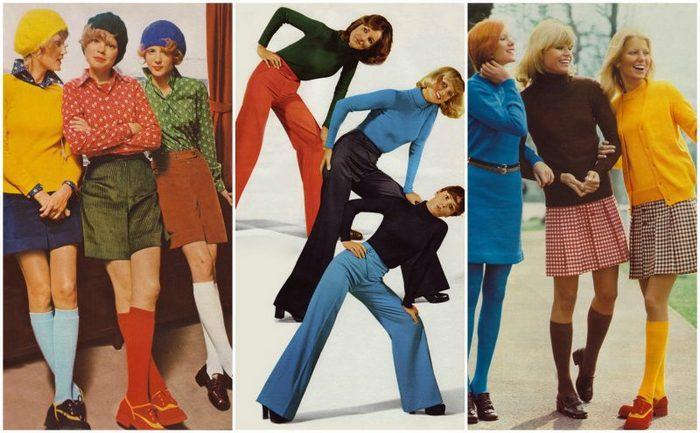 Женская мода 70 годов 20 века, фото