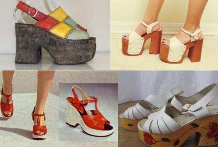 Женская обувь семидесятых годов фото