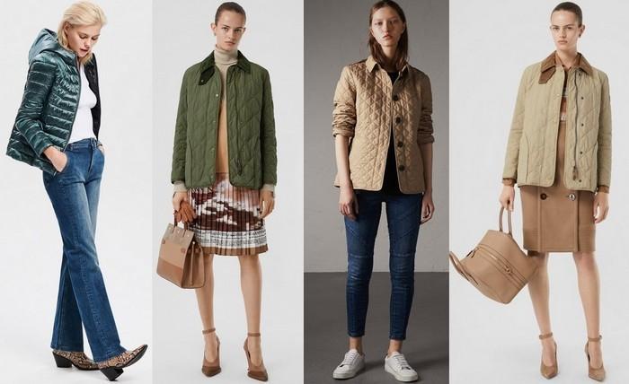 Женская стеганая куртка с чем носить фото