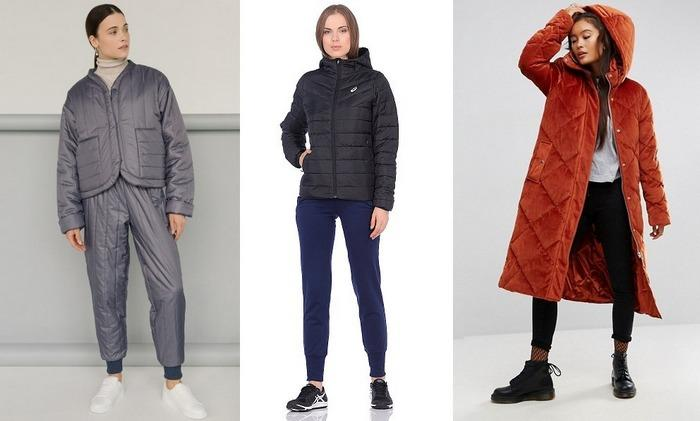 Женские стеганные куртки на синтепоне фото