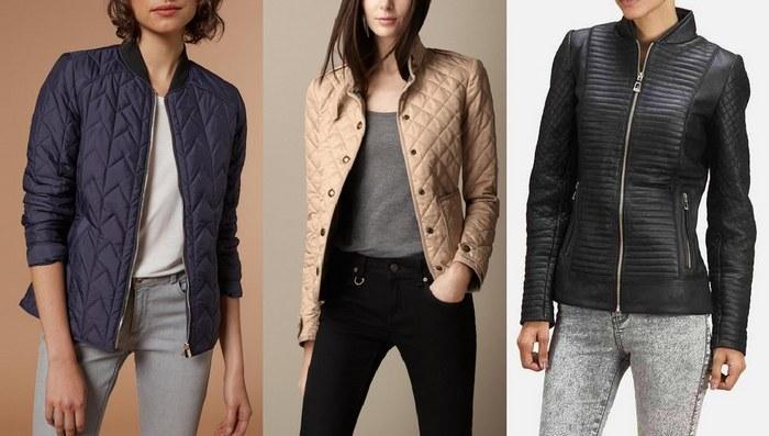 Женские стеганые демисезонные куртки фото