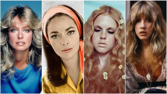 Женские стрижки 70-х за рубежом фото