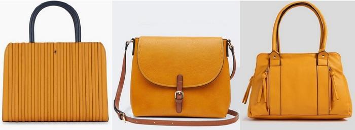 Женские сумочки горчичного цвета фото