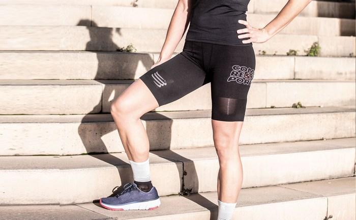 Тайтсы шорты женские для бега, фото