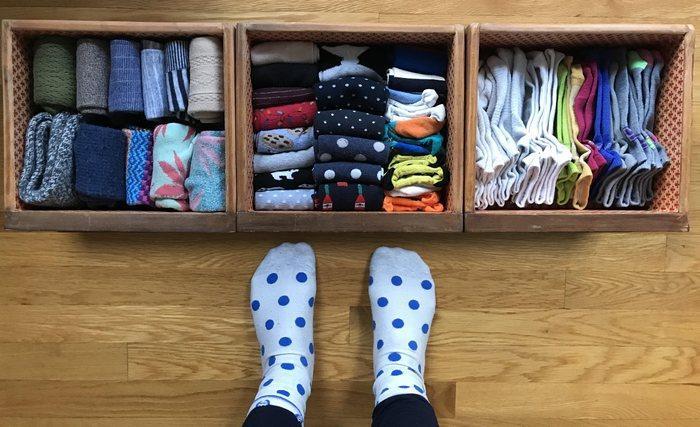 Как правильно хранить носки, фото
