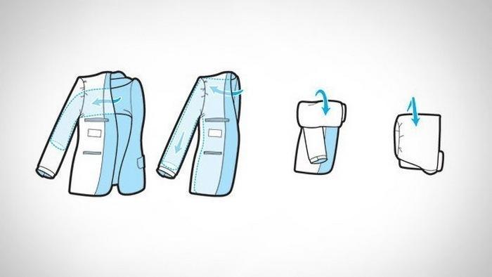 Как правильно сложить домашний халат, фото