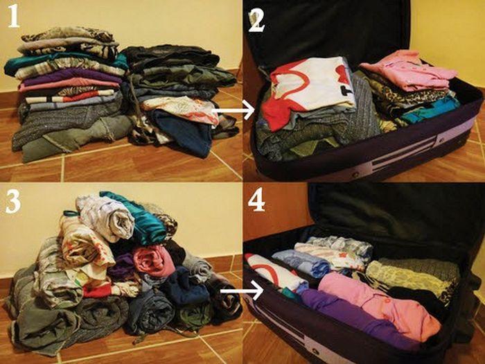 Как правильно сворачивать штаны для хранения, фото