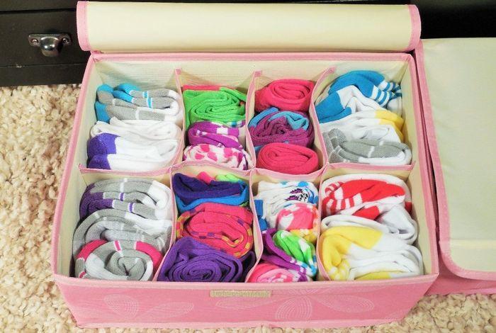 Органайзер из ткани для носков, фото