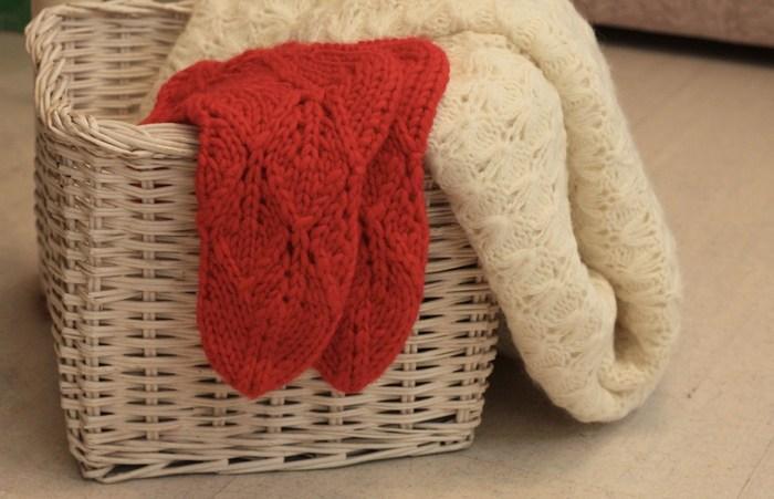 Плетеные корзины для хранения носков, фото