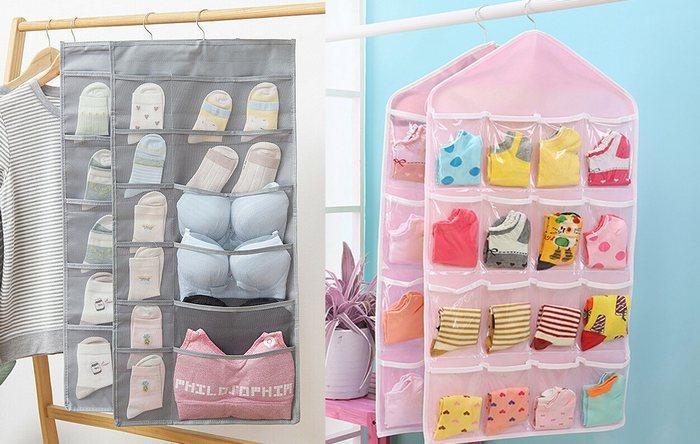 Подвесные карманы для хранения носков, фото