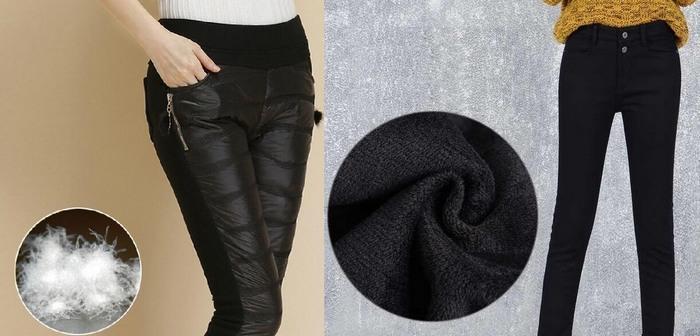 Популярные материалы для зимних штанов, фото