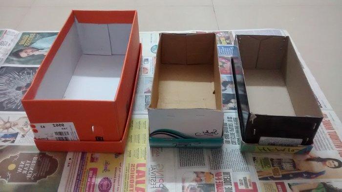 Самодельные коробки для хранения носков, фото