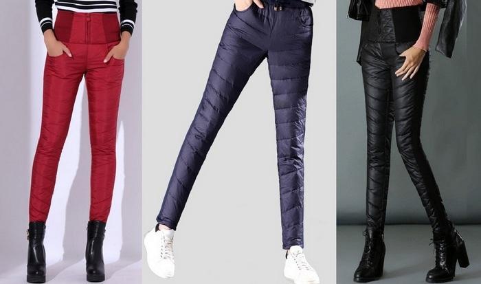 Теплые женские брюки на зиму, фото