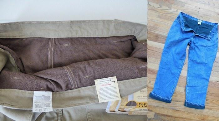 Утепленные джинсы для мужчин, фото