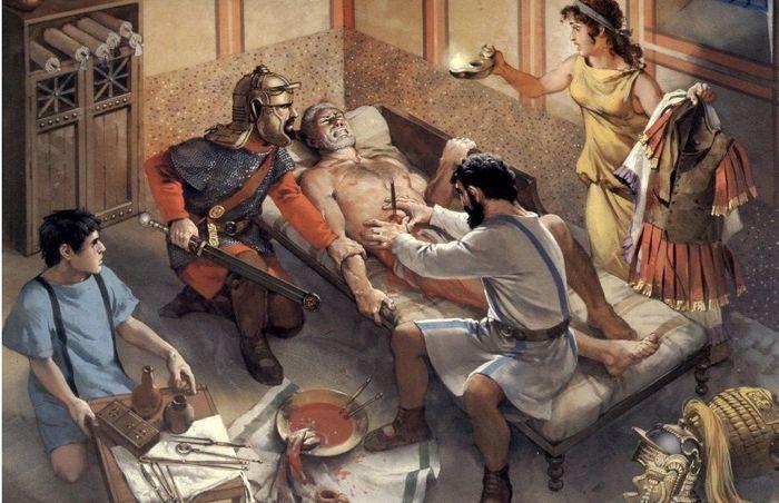 Врач в древнем Риме, фото