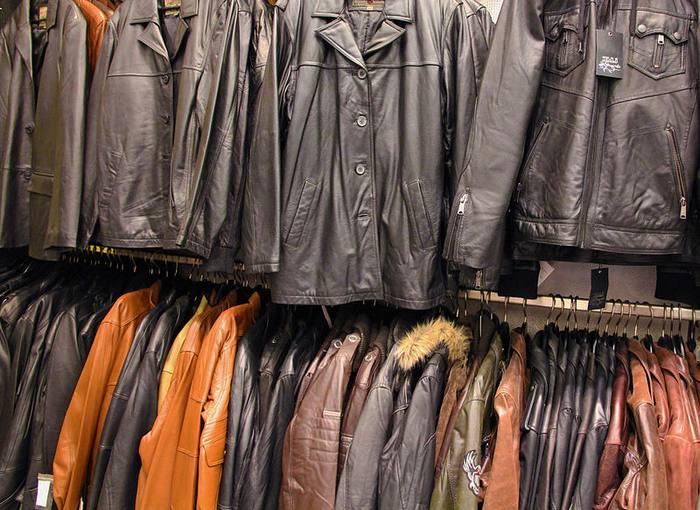 Кожаные куртки из секонд-хенда. фото