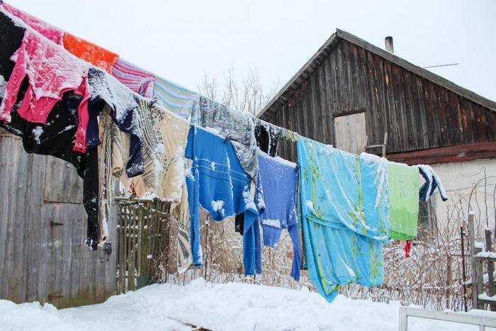 Заморозка одежды для удаления запаха секонд хенда. фото
