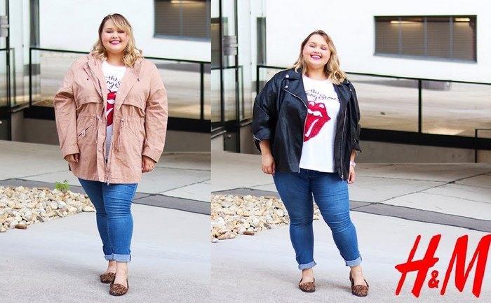 HM одежда больших размеров, фото