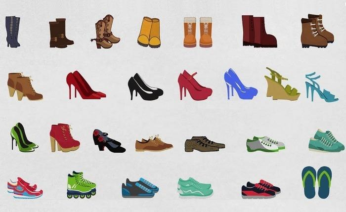 Виды обуви, фото