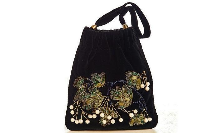 Женская сумка кисет, фото
