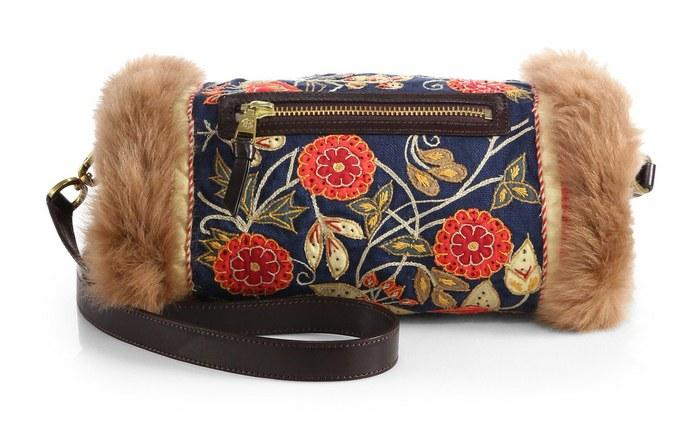 Женская сумка муфта, фото