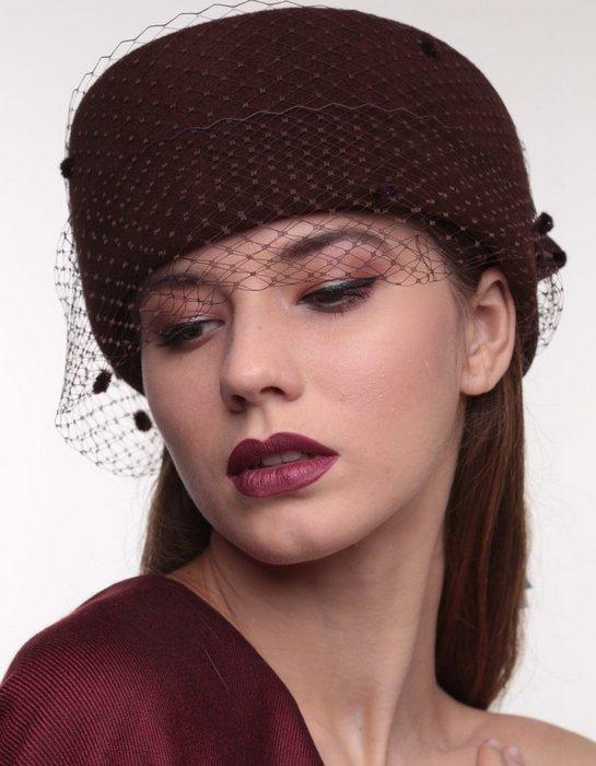 Головной убор, шляпка-таблетка для женщин, фото