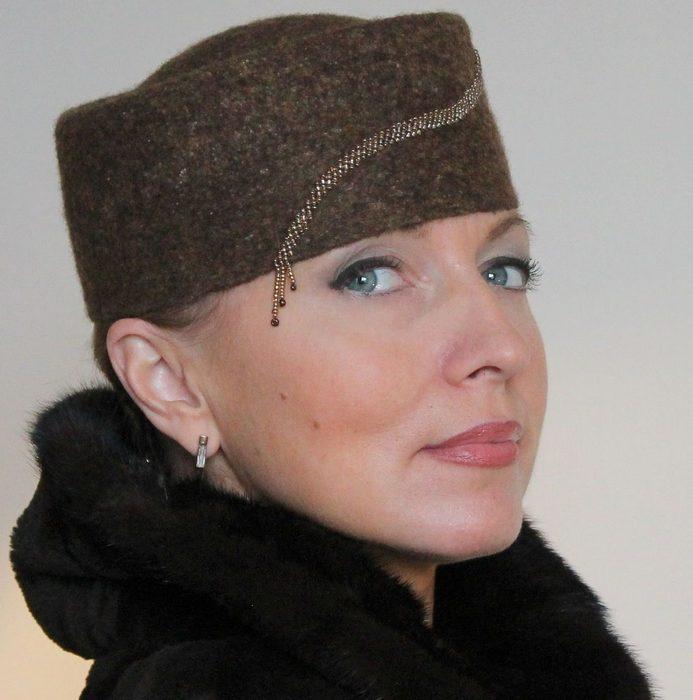 Головной убор, шляпка-ток для женщин, фото