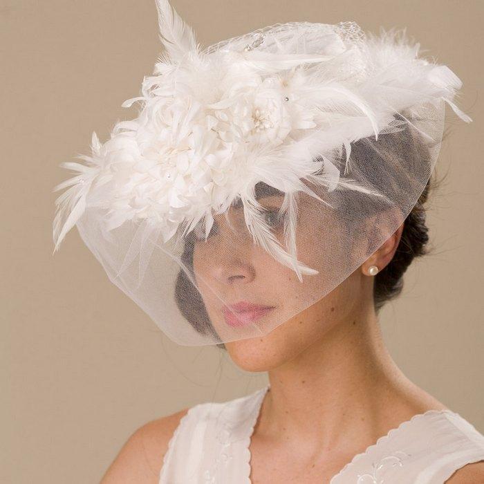 Головной убор, вуаль на шляпке для женщин, фото