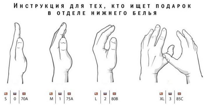 Как определить размер груди руками, фото