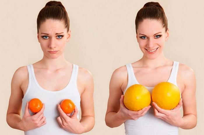 Как определить размер груди визуально, фото