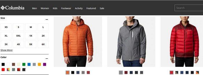 Мужские зимние куртки Columbia, фото