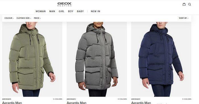 Мужские зимние куртки Geox, фото