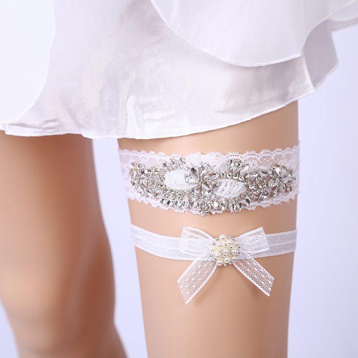 Нижняя одежда подвязка на ногу для женщин, фото