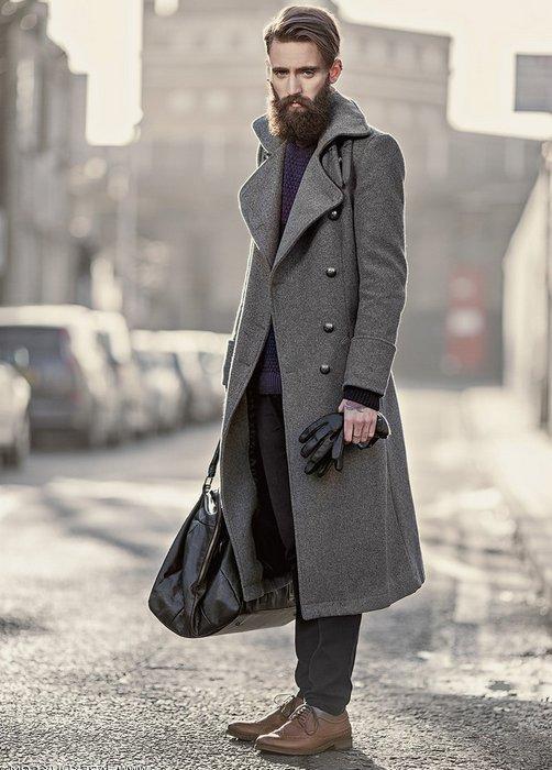 Пальто шинель для мужчин, фото