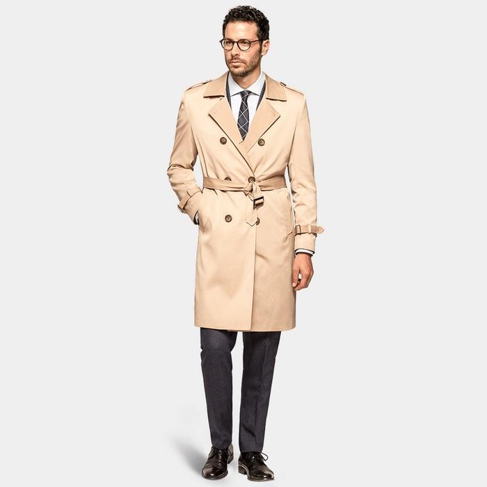 Пальто тренчкот для мужчин, фото