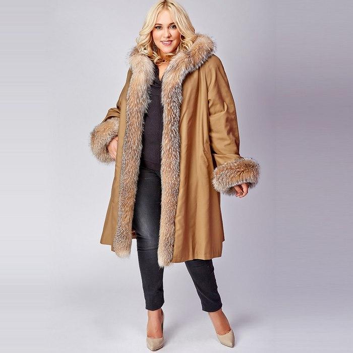 Пальто зимнее size plus, фото