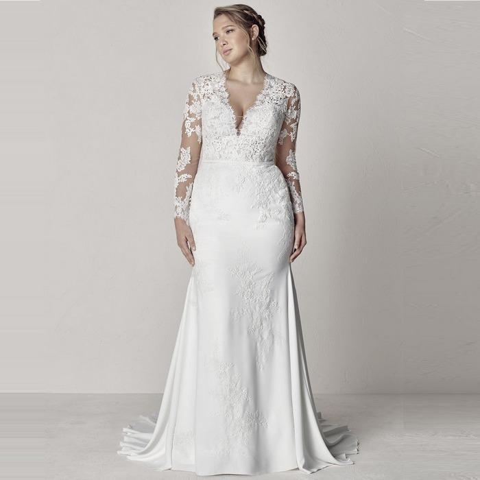 Свадебное платье size plus, фото