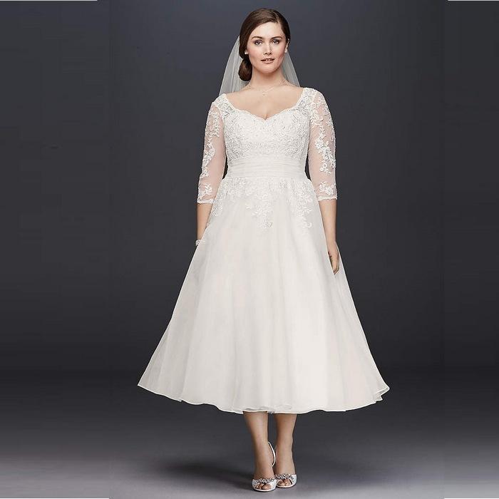 Свадебные платья size plus, фото