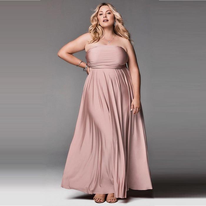 Вечернее платье plus size, фото