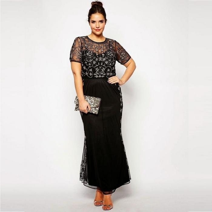 Вечерние платья plus size, фото