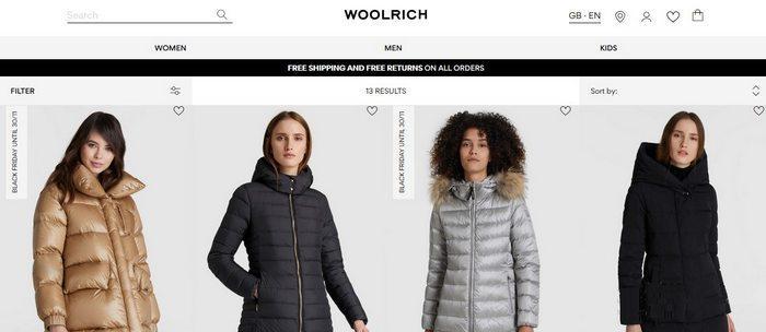 Женские зимние куртки Woolrich, фото