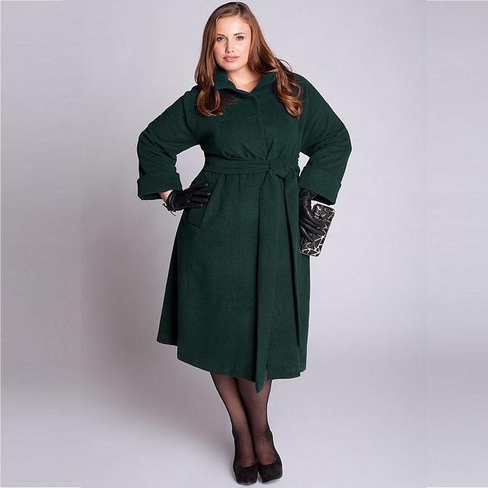 Женское пальто размер size plus, фото