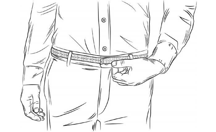 Как измерять обхват талии, фото
