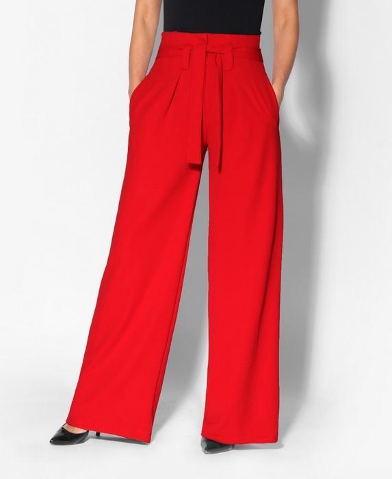 Штаны палаццо красные женские, фото