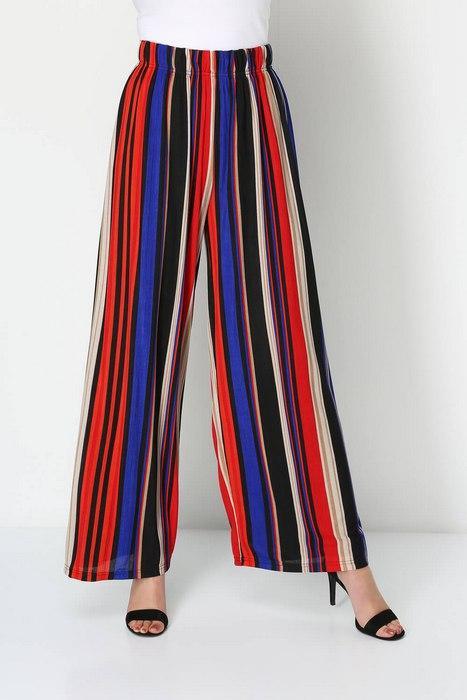 Штаны палаццо в полоску женские, фото