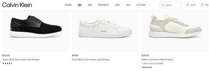 Бренд кроссовок Calvin Klein, фото