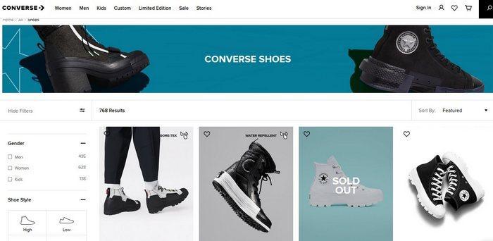 Бренд кроссовок Converse, фото